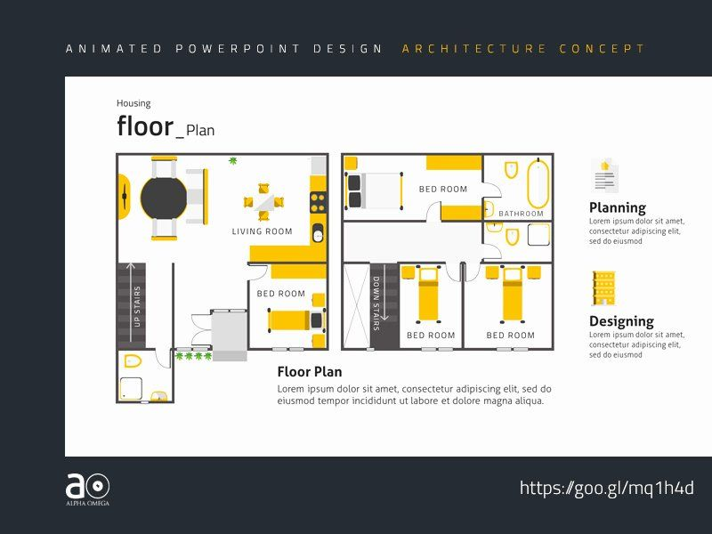 Powerpoint Floor Plan Template Elegant Arc Animated Presentation Template House Floor Plan By Floor Plans House Floor Plans Home Design Floor Plans