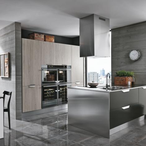Cucine Essenza Grigio Scuro Penisola Cucine Arredamento Di Lusso Cucine Moderne