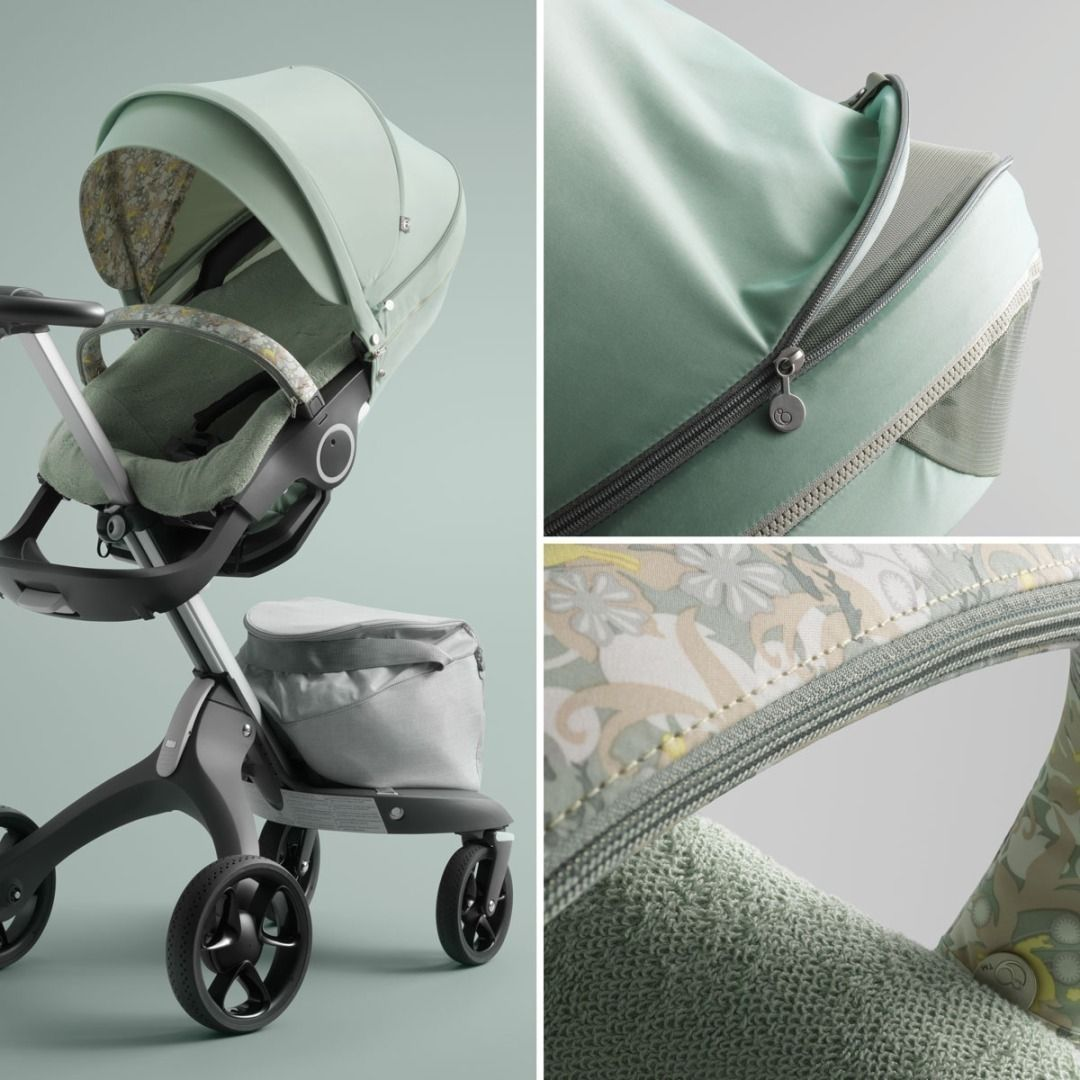 The new Stokke Stroller Summer Kit features flowers and