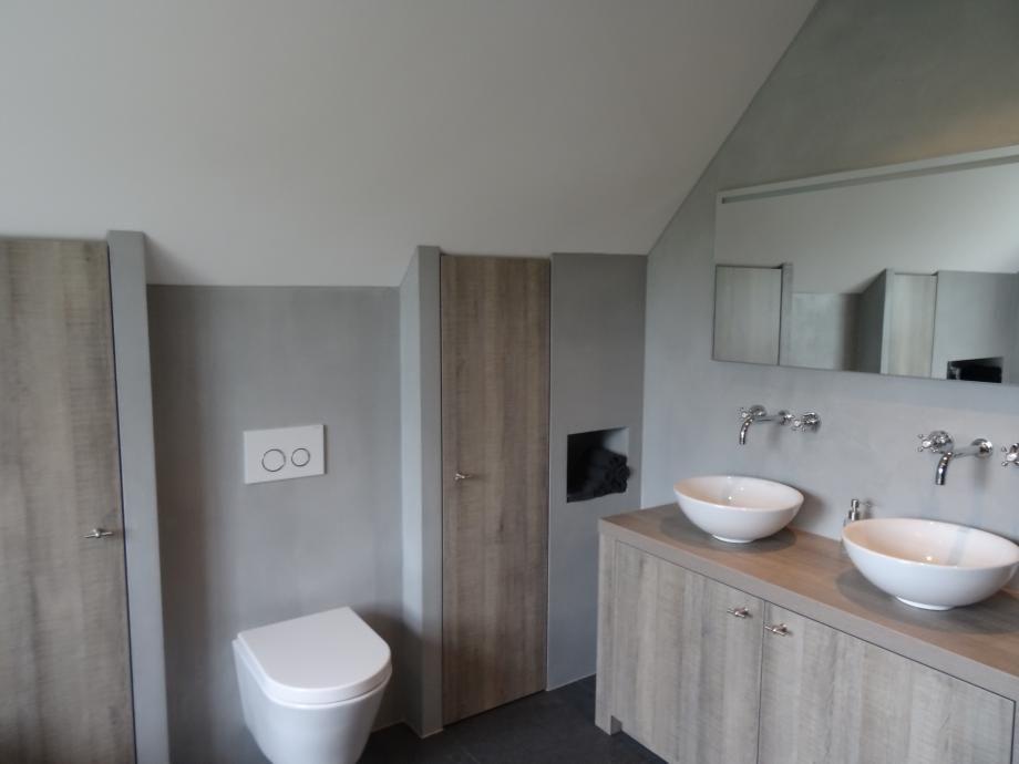 Badkamer Beton Cire : Badkamer met beton cire bathroom bathroom bathroom lighting