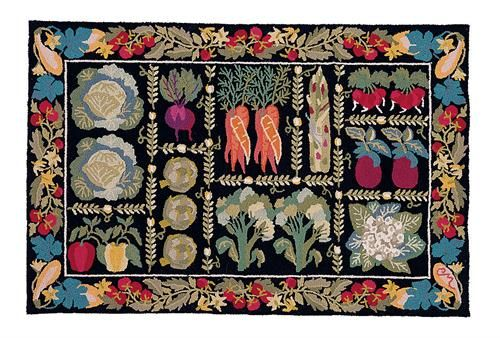 Claire Murray Hand Hooked Rug Vegetables