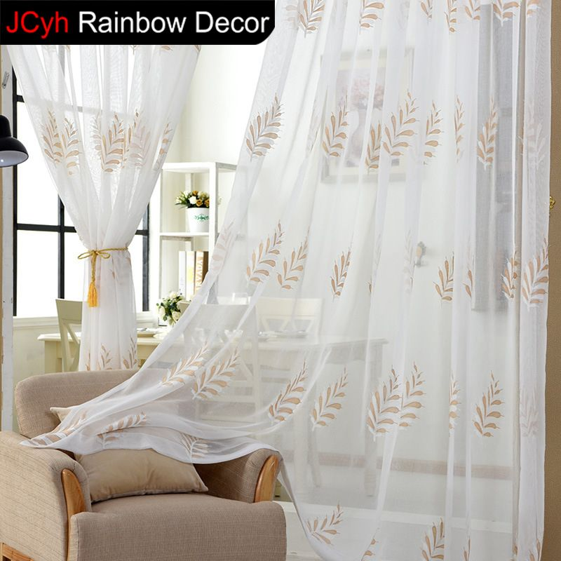 Solid Off White Voile Poly Sheer Curtain Pair 2 Panels White