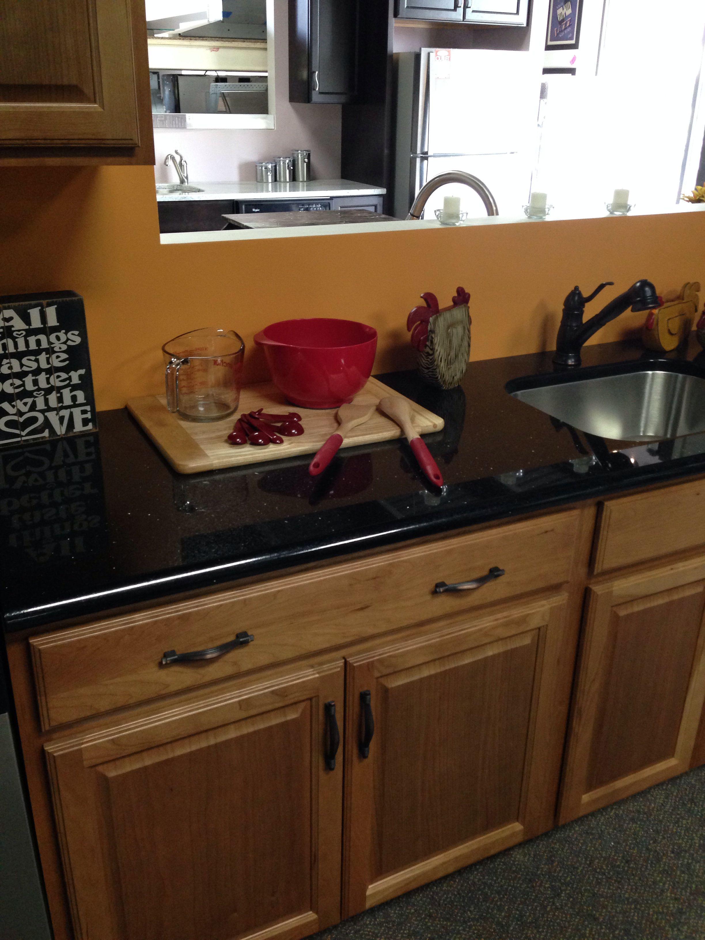 black countertop with oak cabinets oak cabinets kitchen cabinets kitchen on kitchen decor black countertop id=41361