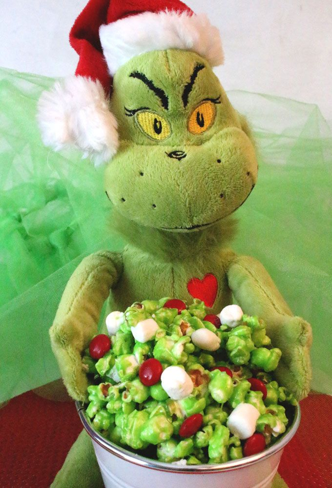 Grinch Popcorn Recipe Grinch stole christmas, Family movies and