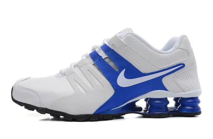 bc1367990654 New Cheap Nike Shox Current Men White Blue Shoes