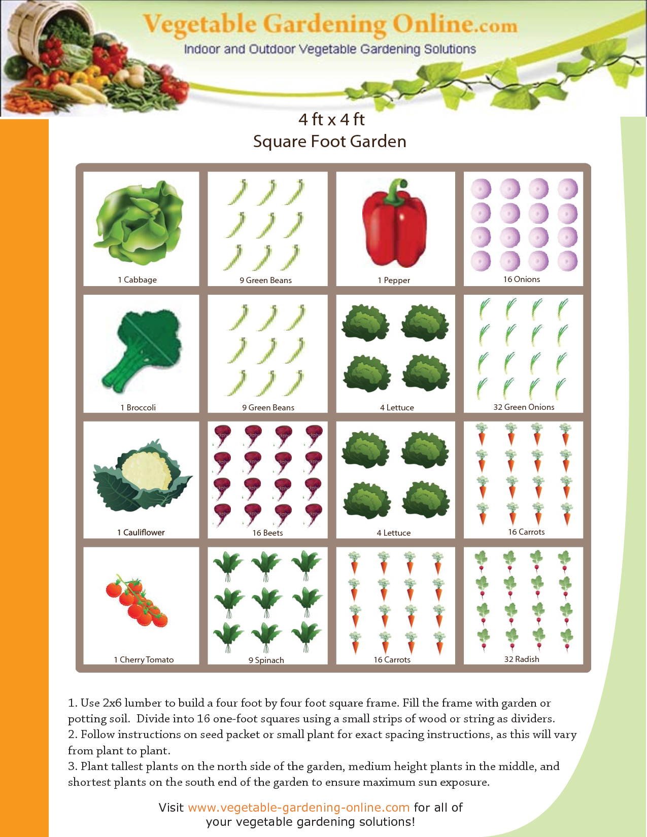 2868821a26e79f180e1e85b9768f9f81 - Best Vegetables For Square Foot Gardening