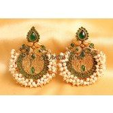 beautiful-pearl-cluster-bali-earrings-green