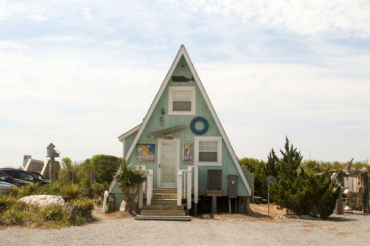 Holden Beach a-frame house.. saw this cute little place in person ...