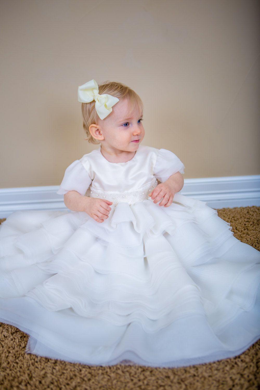 Umbau des Hochzeitskleides zum schönen Taufkleid