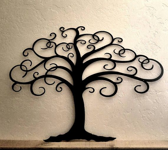 Curly Tree of Life metal Wall Decor