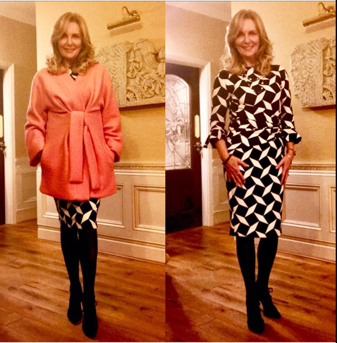 """Wearing a """"me made"""" coat and dress to go out for dinner this evening. Hope you all have a lovely evening 😉 sorry the picture is a bit fuzzy 🤔 #imadethis #handmade #memadeeveryday #imakemyownclothes #handmadewardrobe #isew #sewing #sewinglove #seamstress #diystyle #sewingwithstyle #sewersofinstagram #outfordinner"""