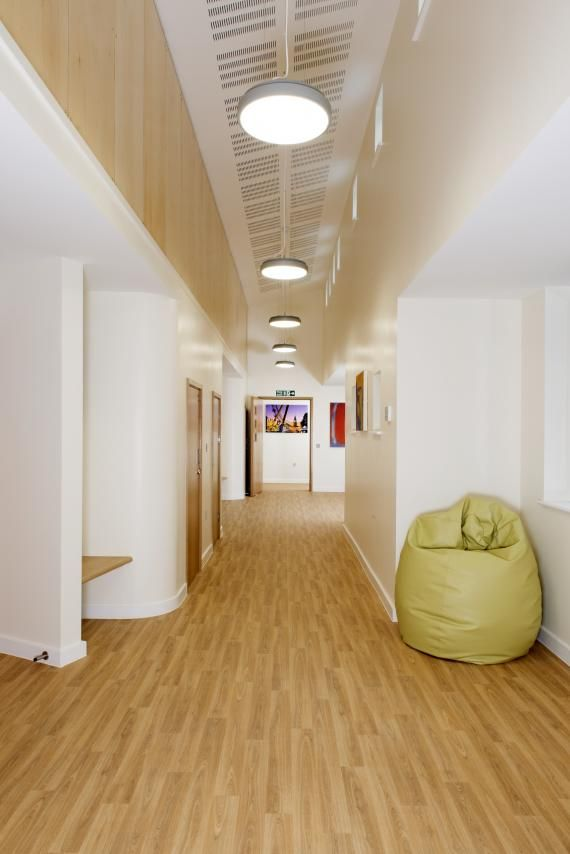 Breakout Spaces With Built In Seating And Curved Walls Oakwood Home For Adults Wtih Autism At