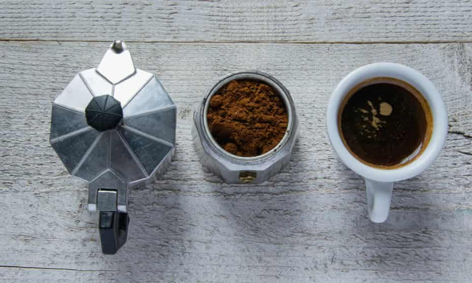 Moka pot, machine, filter or instant which produces the