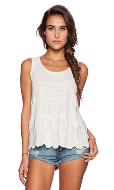 harlyn Tank Blouse in Creme