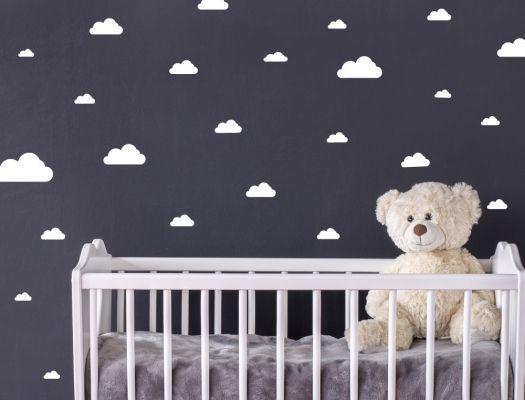 Babyzimmer Wandsticker ~ Wandsticker weiße wolken für das kinderzimmer stück wolken