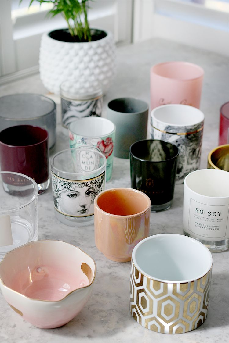 how to reuse candle jars oven