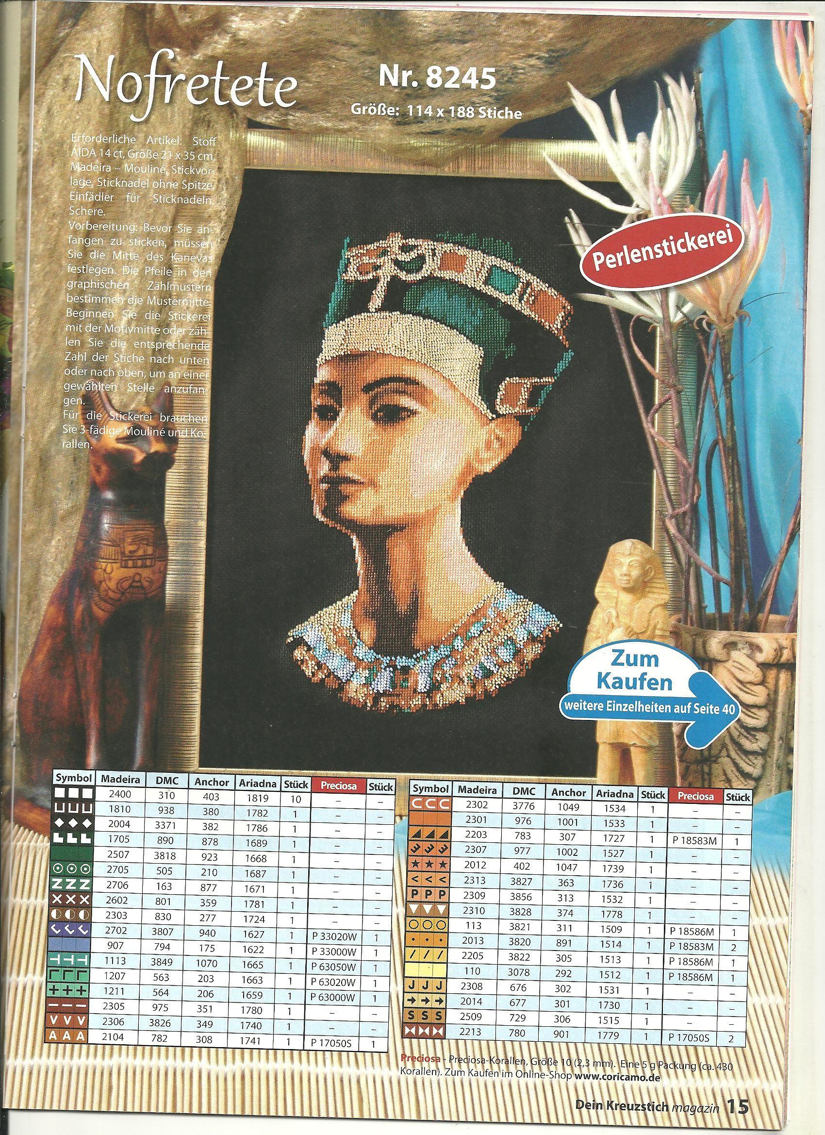 Cross Stitch Egypt Nephrotiri | sticken Ägypten | Pinterest ...