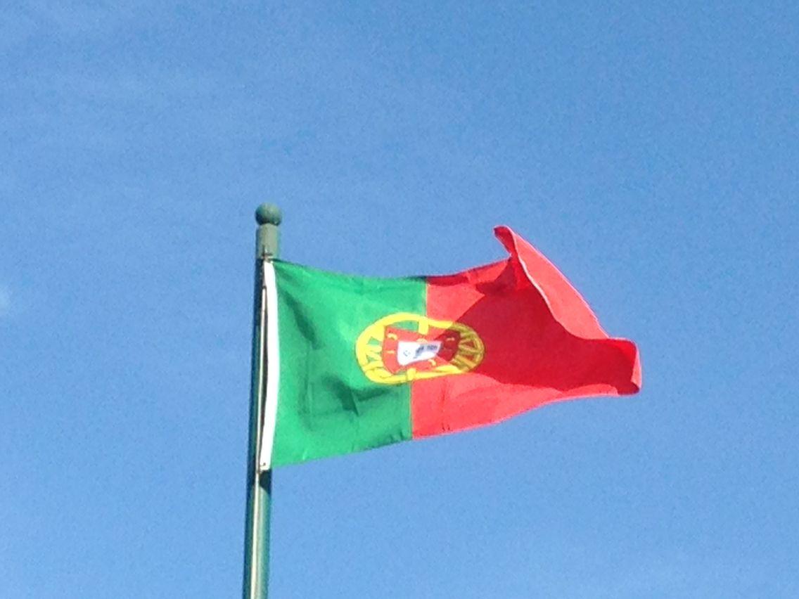 Portugal...el verde representa a Enrique el Navegante, el rojo a la monarquia, el escudo es una esfera armilar!