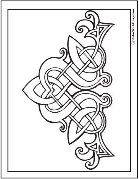 90 Celtic Coloring Pages Irish Scottish Gaelic Celtic Knots