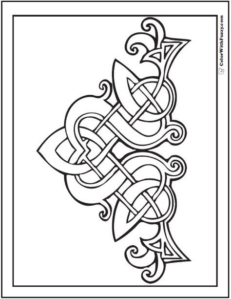 90 Celtic Coloring Pages Irish Scottish Gaelic Celtic