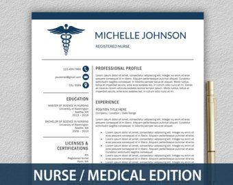 Doctor Resume Template For Word U0026 Pages By LandedDesignStudio