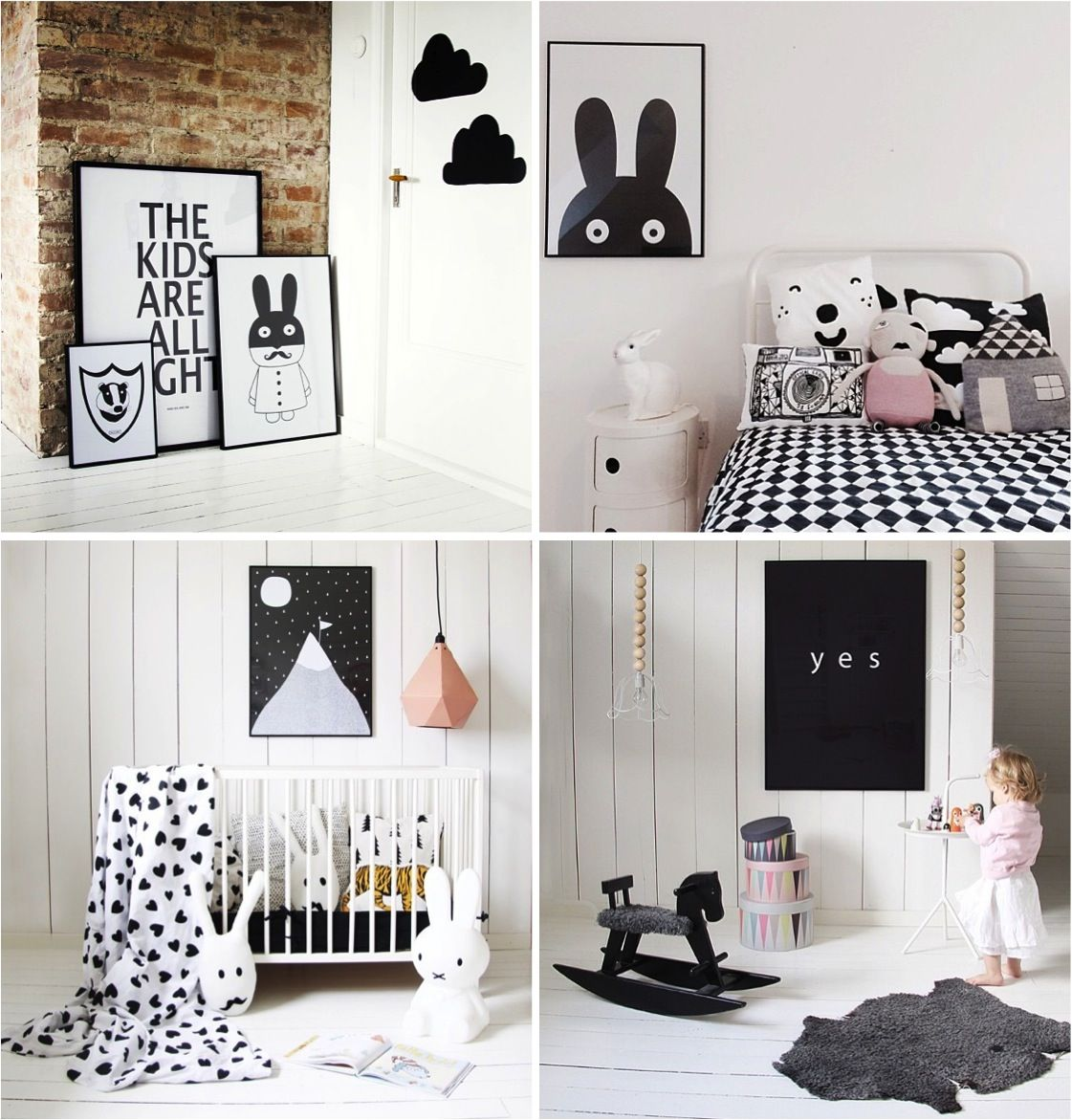 Kids Bedroom Black And White ebabee likes:playful black and white posters for kids bedrooms
