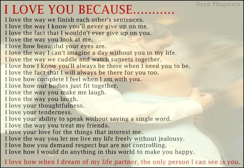 I Love You Because Sayings: This Picture Was Submitted By