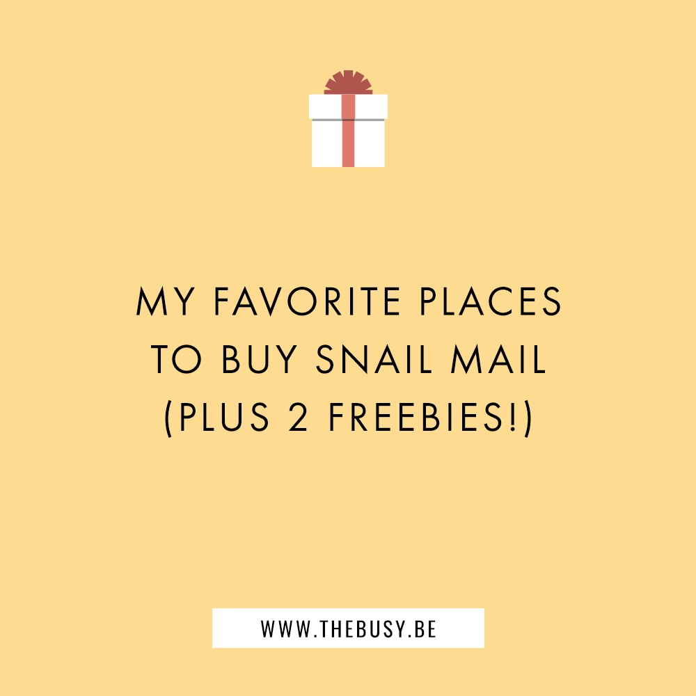 My Favorite Places To Buy Snail Mail Plus 2 Freebies Snail Mail