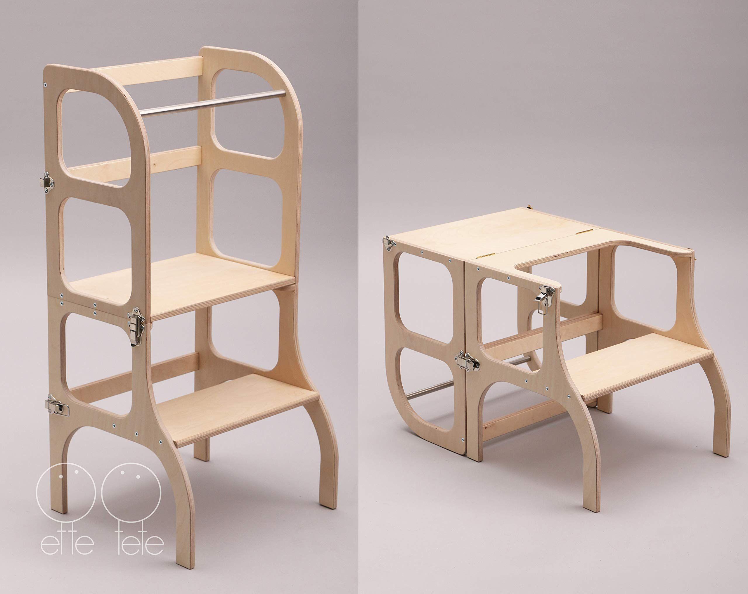 Torre Di Apprendimento Montessori Furniture Learning Tower Table Chair Step N Sit Toddler Kitchen Helper Step S Kuche Tritthocker Kleinkind Kuche Lernturm