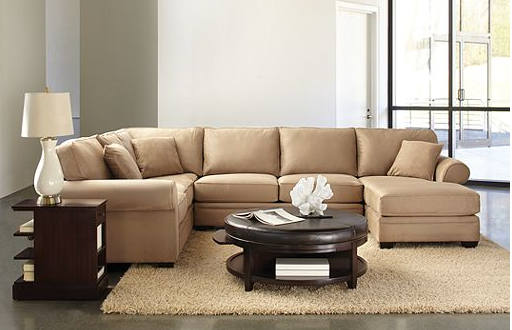 Raja Couch Sectional At Macys Stone Color