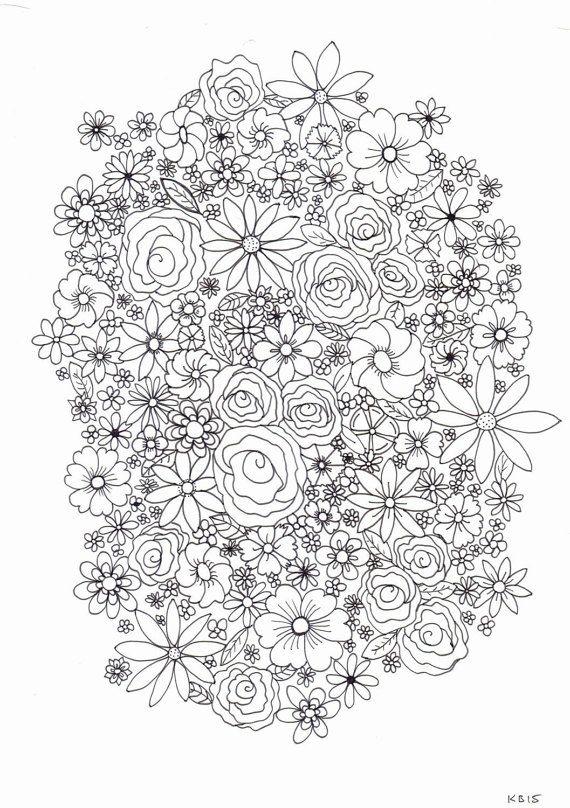 Adult colouring page - flowers | Mandalas y otros | Pinterest ...