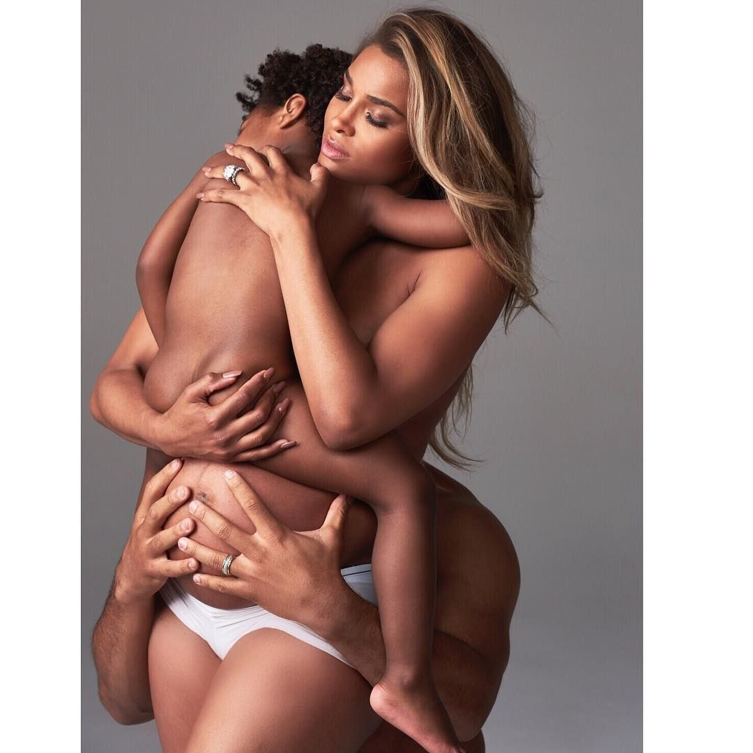 nud family Ciara Russell Wilson cause stir with nearly nude family photo