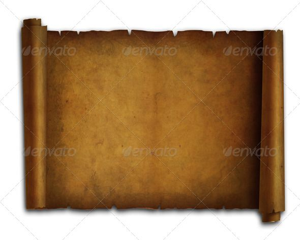 Old paper scroll on white background 2 | Stock Photos & Graphics