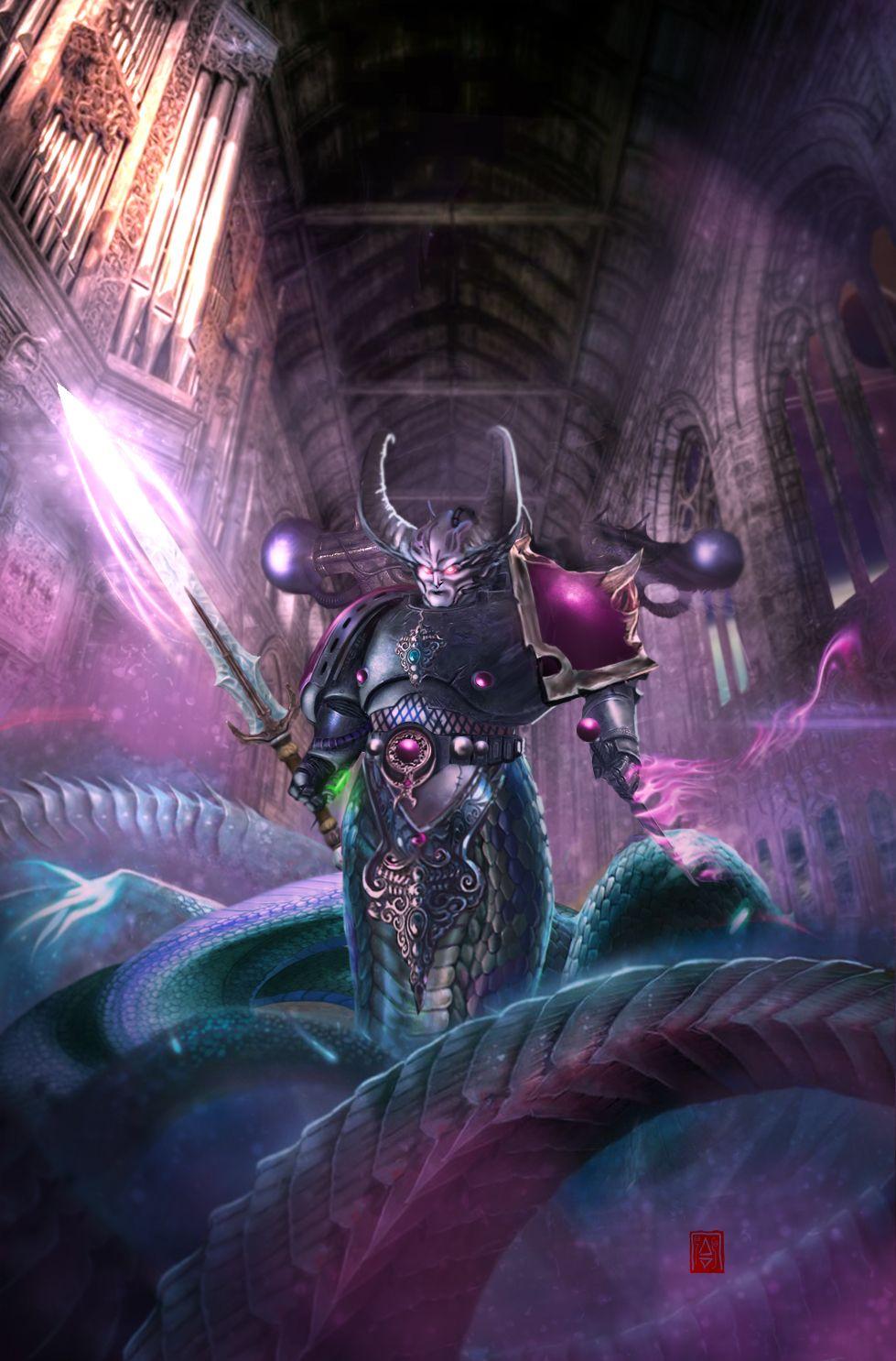 Slaanesh Champion By Slaaneshg Warhammer Chaos Warhammer Art