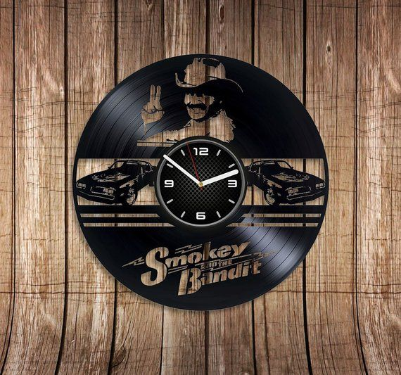 Cledus Art Smokey And Bandit Vinyl Record Wall Clock New ...