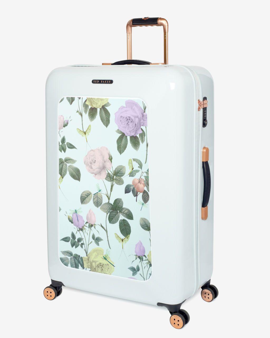 795802ecbcb7 Large distinguishing rose suitcase - Mint