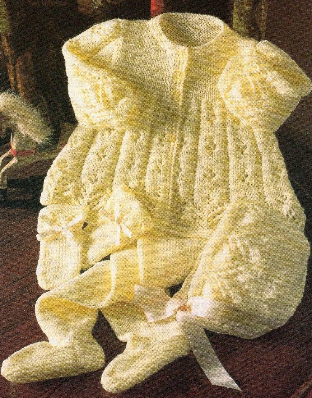 68fe7e01e KNITTING PATTERN BABY GIRL BOY PRAM SET MATINEE COAT ETC 4 Ply 41 ...