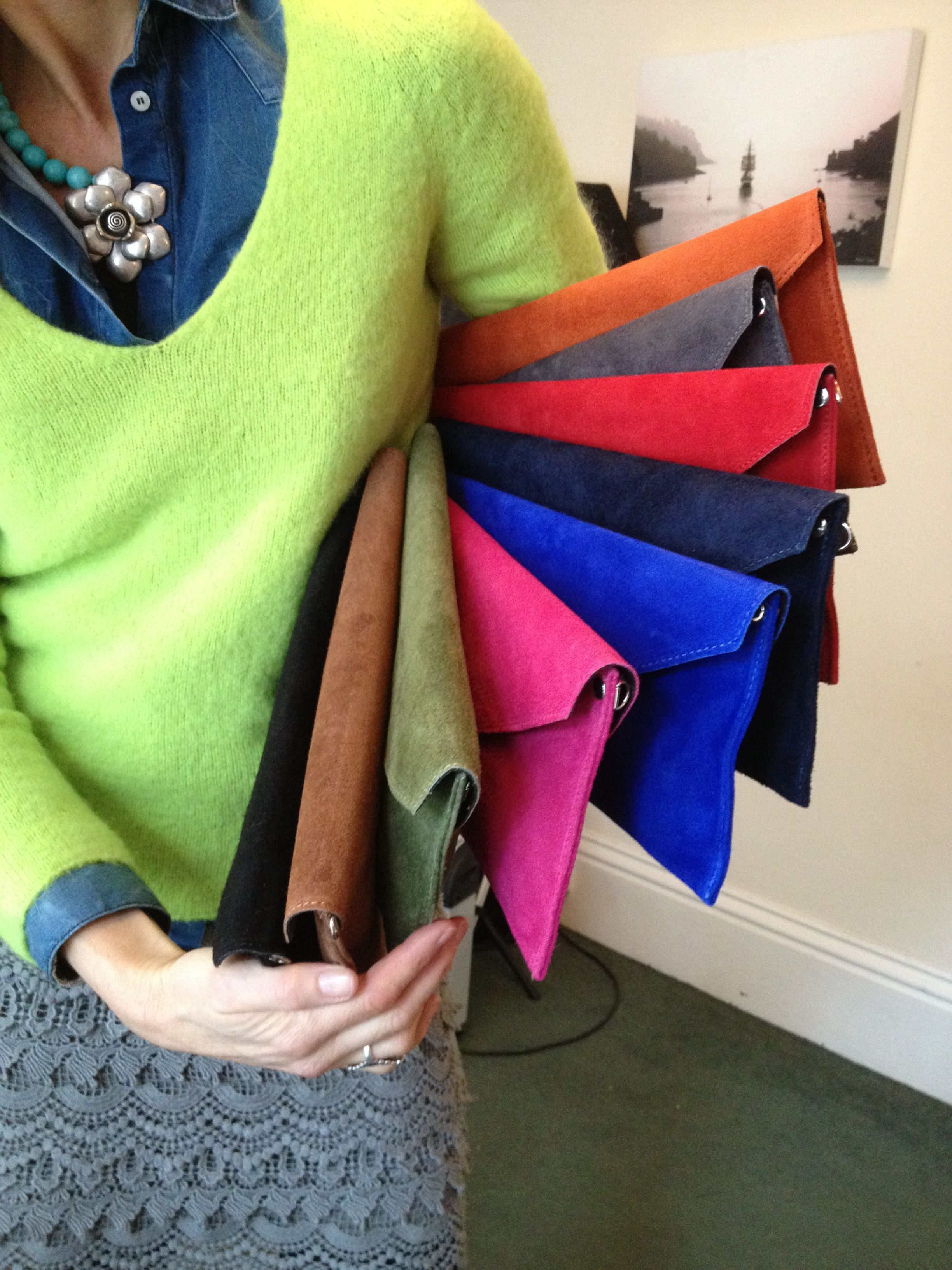 Which colour clutch bag would you choose?