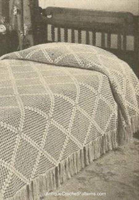 Diagonal Bedspread Free Crochet Pattern Crochet Pinterest