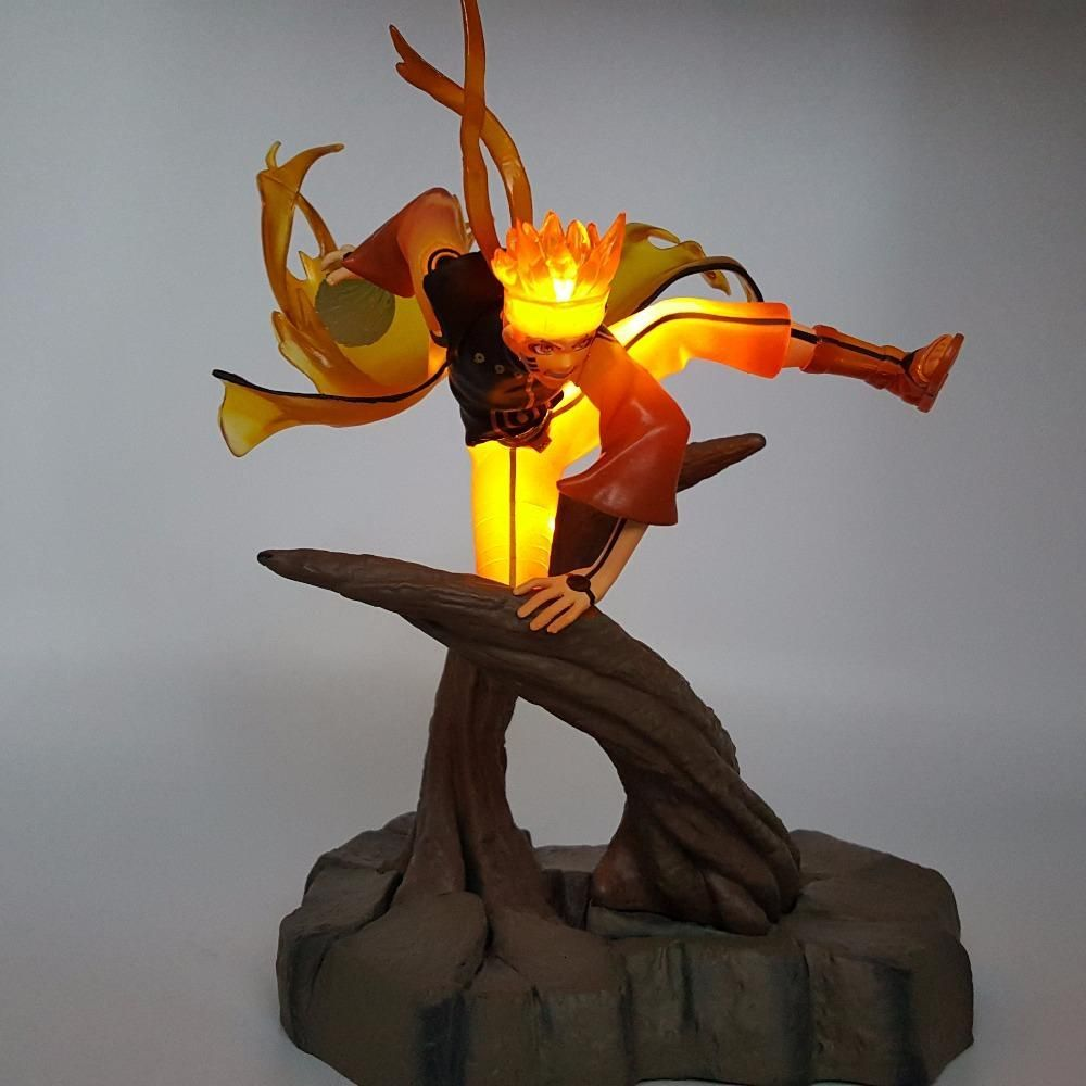 Naruto Kyubi Mode Figurine Led Naruto Naruto Figurine Et