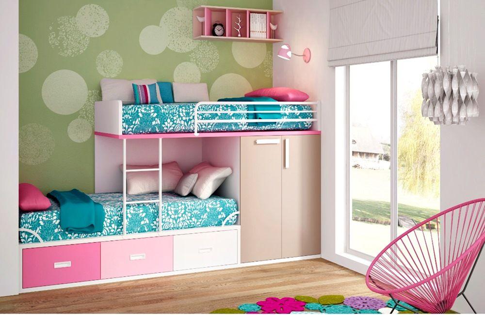 Litera en forma de tren dormitorios juveniles con for Literas para cuartos pequenos