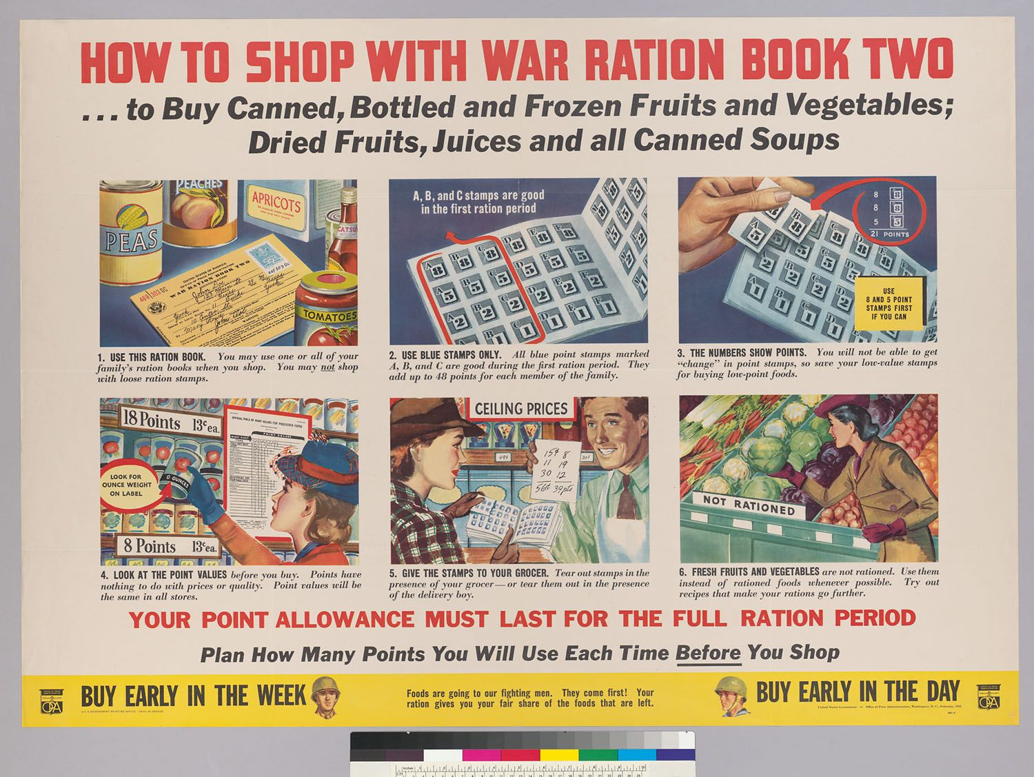 1943 - How to shop with war ration book two.. to buy canned, bottled ...