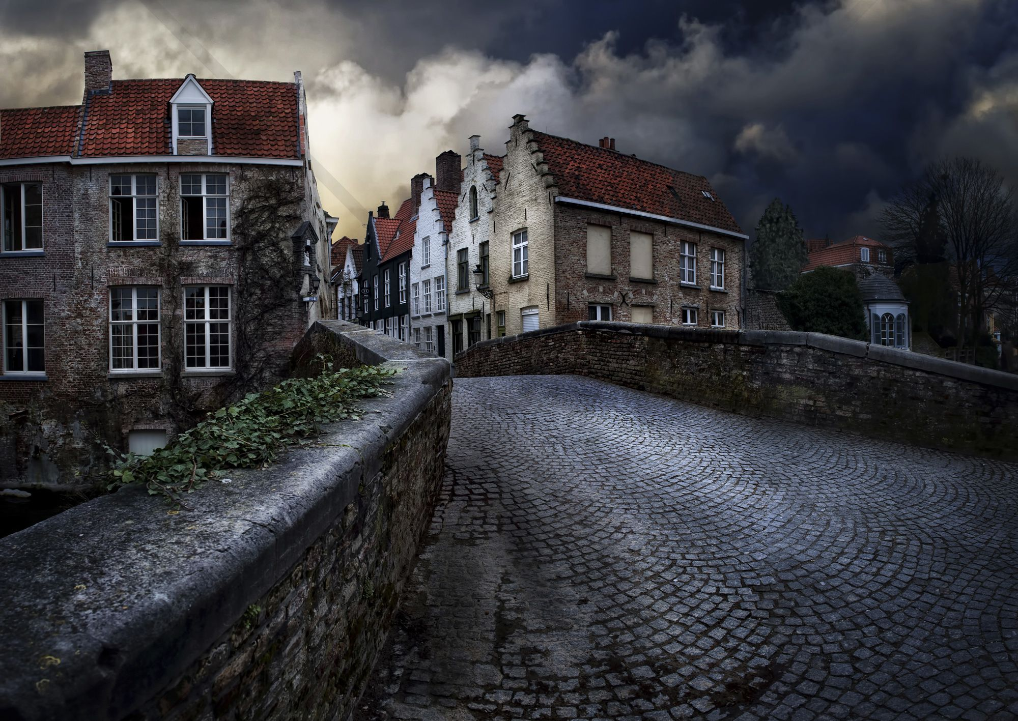 Bridge in Bruges - Tapetit / tapetti - Photowall