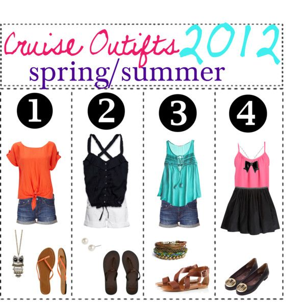 cruise outfits for 2012 spring/summer, created by tipgirlie on Polyvore #summercruiseoutfits