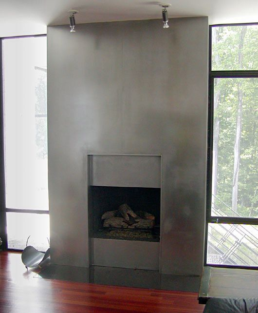 Metal Fireplace Surrounds Scandinavian Steel Fireplace