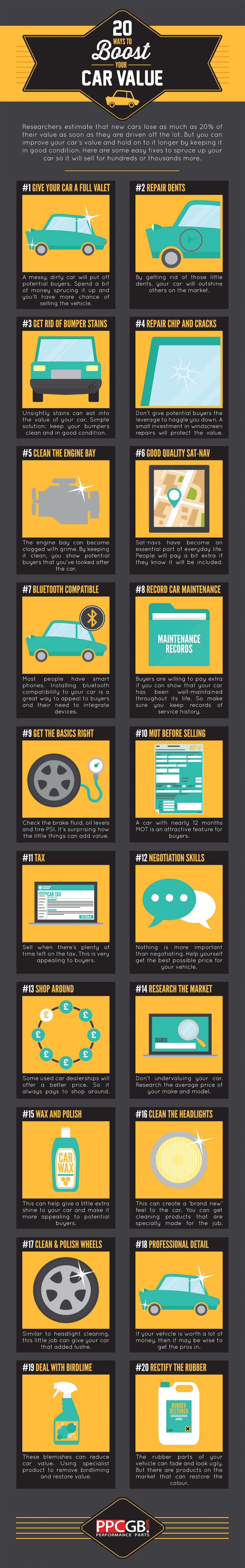 20 ways to boost your car value infographic cars transportation