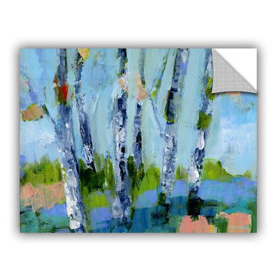 "ArtWall Walk in the Woods 3 Wall Mural Size: 14"" H x 18"" W x 0.1"" D"