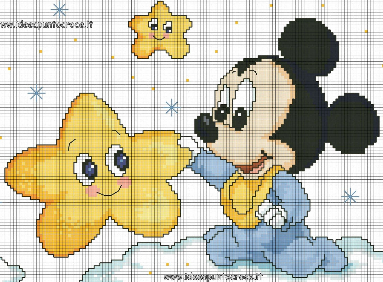 Schemi punto croce disney disney cross stitch mickey for Schemi punto croce bambini disney