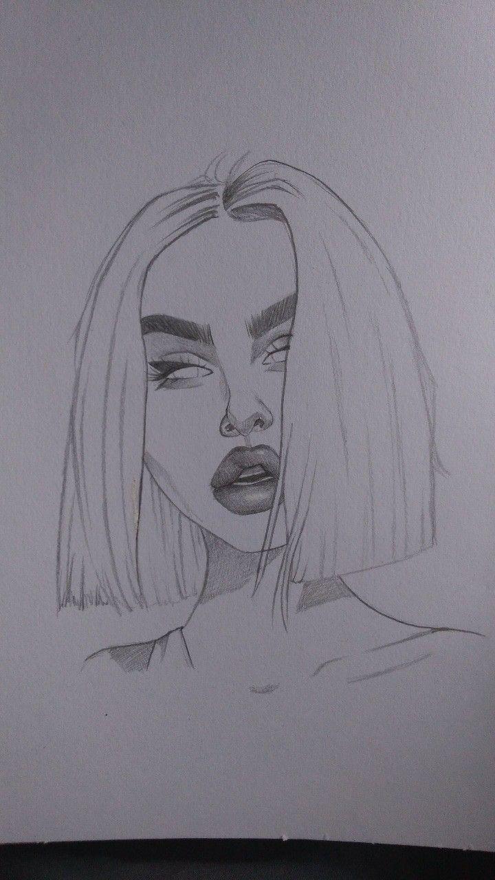 Tumblr Fille Dessin Desenhando Esbocos Desenhos De Rostos