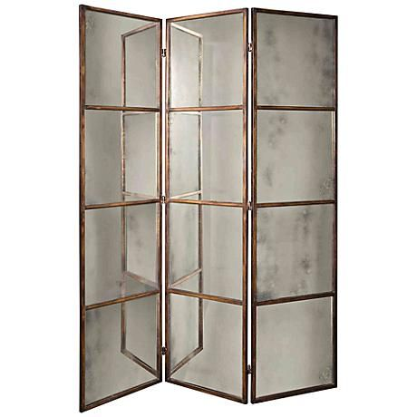 A 3 Panel Mirrored Screen From Uttermost With A Heavily
